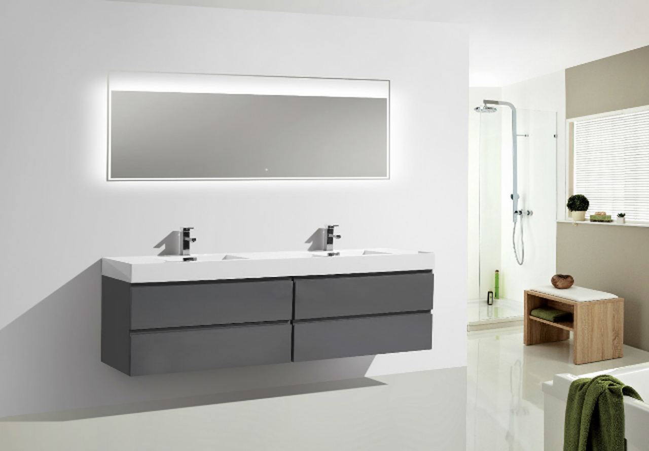 80 High Gloss Grey Bathroom Vanity Keetchen