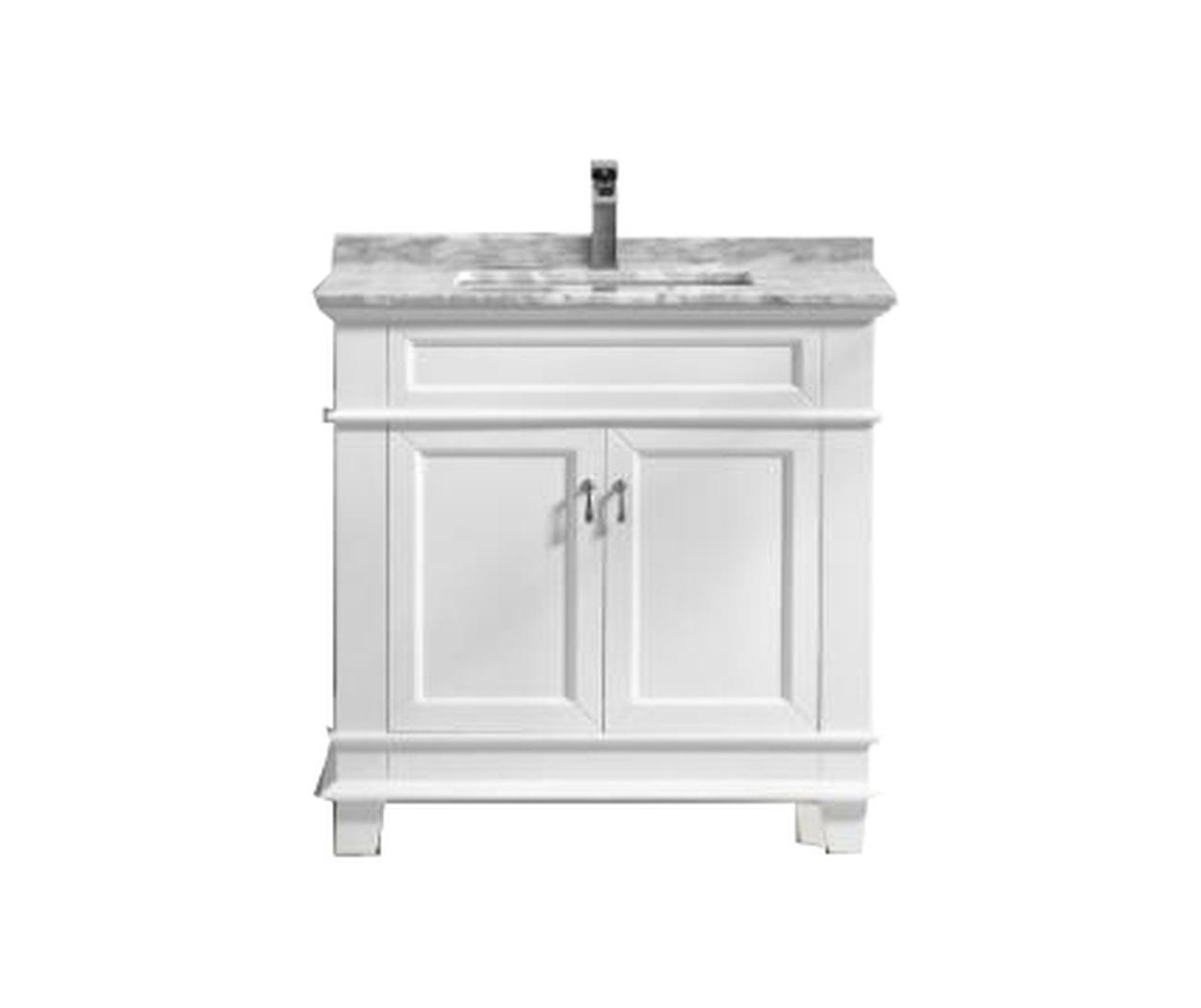 36 White Bathroom Vanity